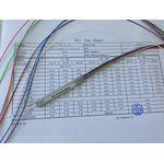 Ответвитель оптический PLC, 1х8, одномод. (G657A1), равномерный, 1260-1650 nm, 1 m, 0.9 mm, неоконцованный