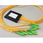 Ответвитель оптический PLC, 1х8, одномод. (G657A1), равномерный, 1260-1650 nm, 1 m, 3.0 mm, SC/APC